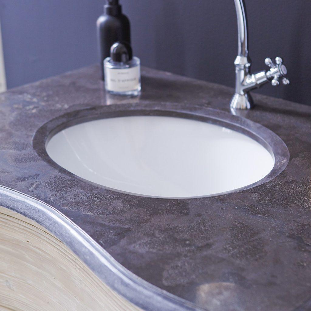 HERMIONE fenyő és kerámia fürdőszoba szekrény 90