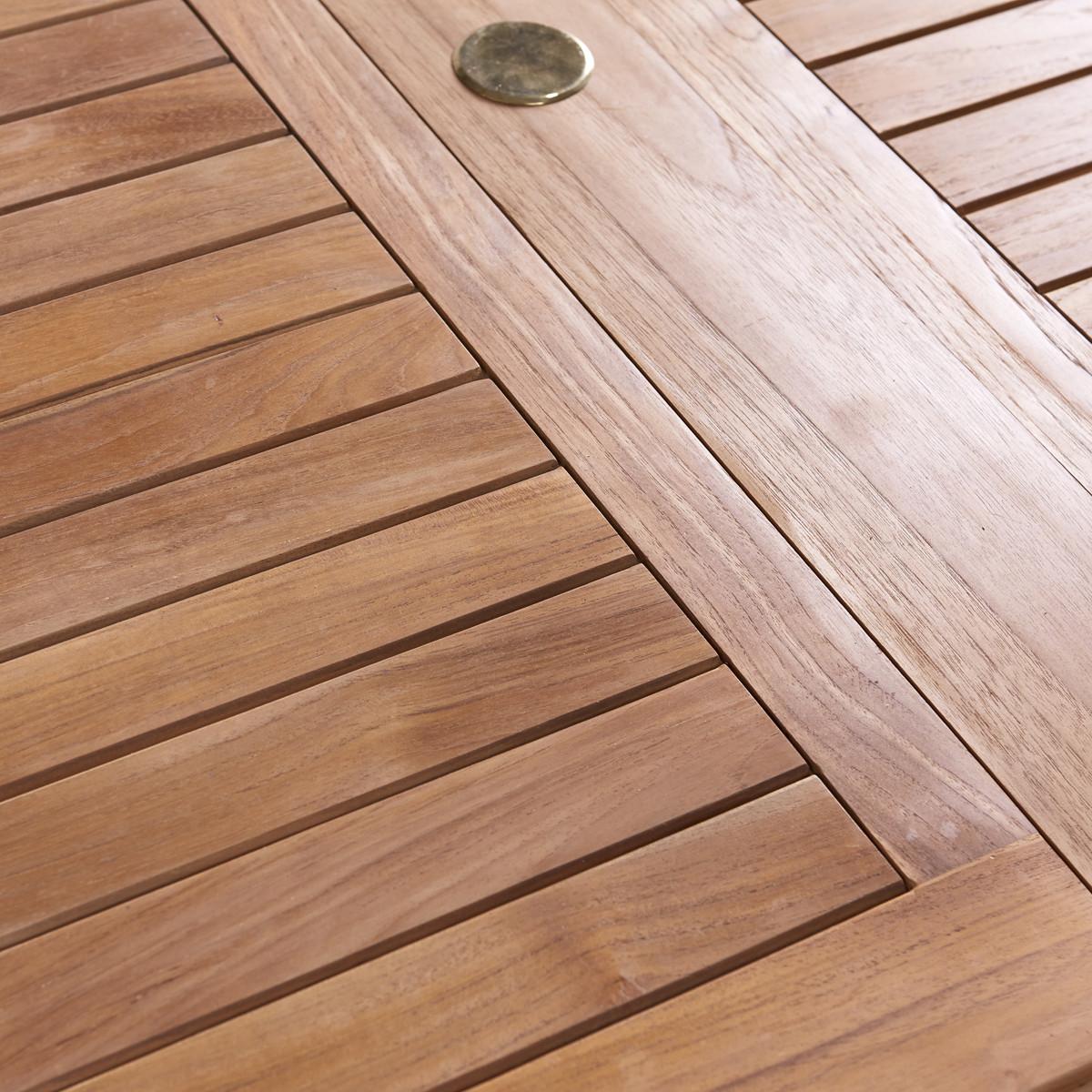 CAPRI teakfa kerti asztal 6 székkel