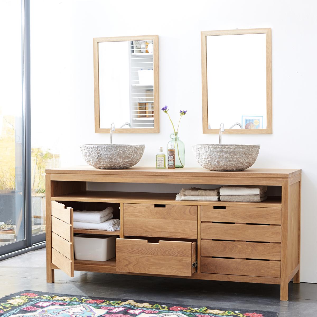SERENA tölgyfa fürdőszoba szekrény 165