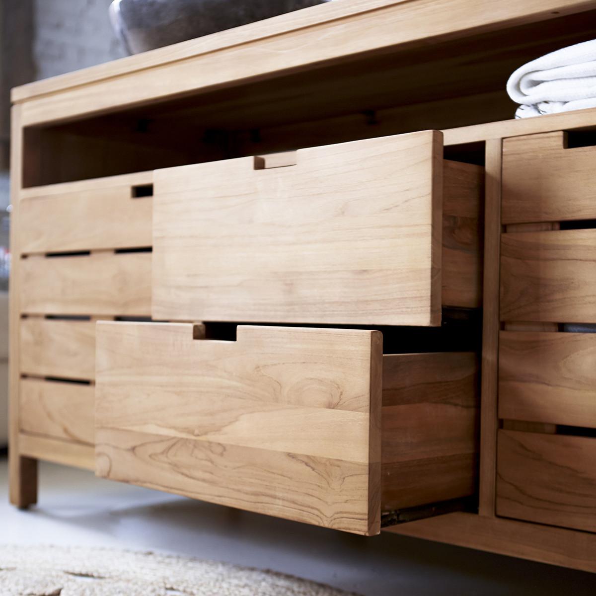 SERENA teakfa fürdőszoba szekrény 165